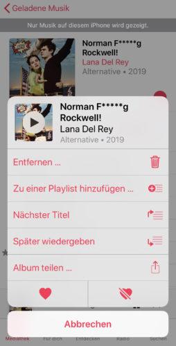Apple Music manuell löschen
