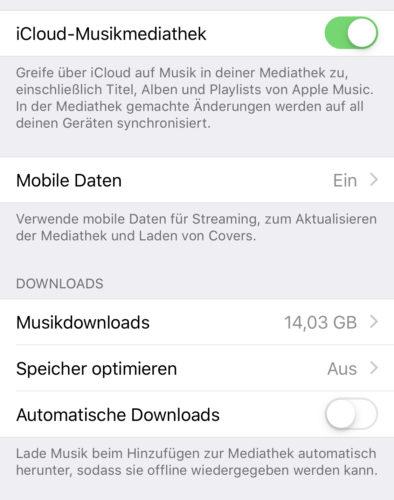 Apple Music automatisch löschen