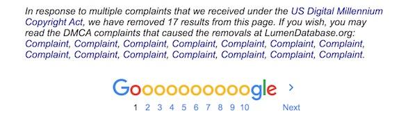 DMCA Complaint Google