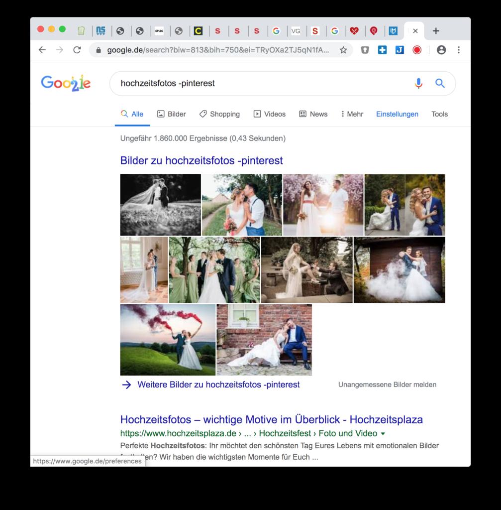 Google Hack: Bestimmt Begriffe aus Suche ausschliessen