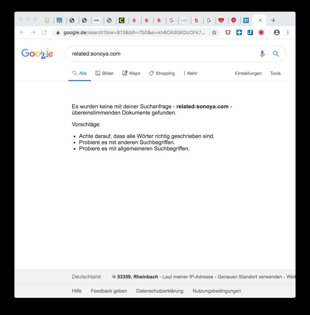 Google Hacks: Ähnliche Websites suchen
