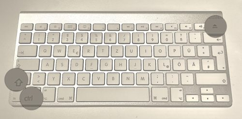 Mac Tastaturkombination / Shortcut Bildschirm ausschalten